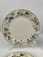 Farberware Stoneware ENGLISH GARDEN set of 4 salad /bread plates