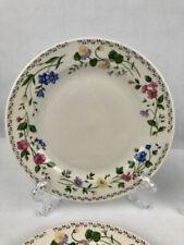 Farberware Stoneware ENGLISH GARDEN set of 4 salad /bread plates