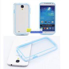 Funda bumper transparente azul para Samsung Galaxy S4 I9500 I9505 - carcasa