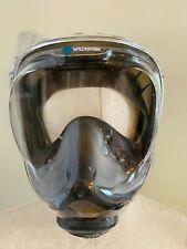 WILDHORN Size S Gray Seaview 180 V2 Full Face Snorkel Mask with Flowtech System