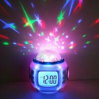 Reloj Despertador Infantil Para Niños Musica Luz Termometro Alarma Calendario
