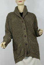 Ralph Lauren Shawl Neck Cardigan Sweater Womens Large Green Cotton
