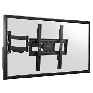 Heavy Duty Full Motion Swing Arm TV Wall Bracket Mount -20 +10 Degrees Tilt +90