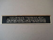 Thurman Thomas Bills Nameplate For A Football Mini Helmet Display Case 1.5 X 6