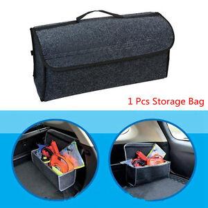 1 Pcs Felt Cloth Car Auto Trunk Cargo Storage Orgainzer Bag Console Collapsible