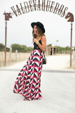 Geometric Viscose Maxi Skirts for Women
