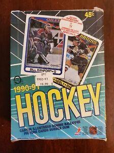 1990-91 O-Pee-Chee Hockey Wax Box 36 Packs.  (A105)
