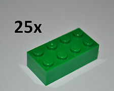 LEGO PARTS - 25X GREEN BRICKS 2X4 STUDS/BULK BUILDING BLOCKS/ 4X2 KNOBS 3001