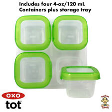 OXO Tot Baby Blocks Freezer Storage Containers (4 Oz) Green Authentic Brand New