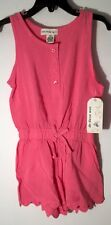 New! One Step Up Children's Size 4 Sm Pink Sleeveless 2 pocket Short Romper