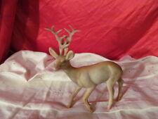 """Vintage Hard Plastic Reindeer with Antlers 7"""""""