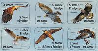 Sao Tome & Principe 2016 MNH Birds of Prey 6v S/A M/S Hawks Eagles Kites Stamps