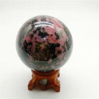 Rhodonite sphere Ball Gemstone sphere healing crystal sphere from Madagascar