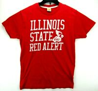 Vintage Illinois State Red Alert Men's Size Large T Shirt Red Single Stitch
