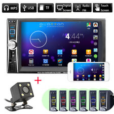 "6.6"" 2DIN Car DVD Player Bluetooth MP3/Audio/Video/USB/AUX + Rearview Camera New"