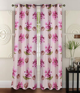 """1PC (FLORA) HIGH QUALITY WINDOW CURTAIN BLACKOUT ROOM DARKENING IN 36"""" LONG"""