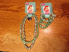 DISNEY LITTLE MERMAID ARIEL MATCHING NECKLACE & BRACELET NEW/REAL PICS/WRONGWAY0