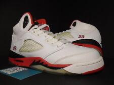 550ae6c85025f7 2006 Nike Air Jordan V 5 Retro GS WHITE FIRE RED BLACK SILVER 134092-162