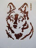Wolf, Dog Stencil Reusable 10 mil Mylar Stencil