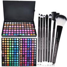 252 Farben Make-up Lidschatten Palette Schminke Eyeshadow Geschenk 7 Pinsel Set