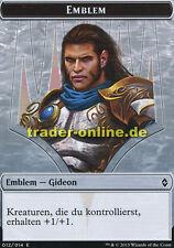 Spielstein - Emblem Gideon (Token - Emblem Gideon) Battle for Zendikar Magic
