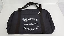 Glovers Scorebook Duffle Bag Black Outside Zipper Pocket Baseball/Softball/Gym