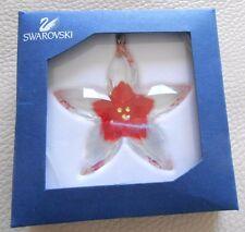 Swarovski Silver Crystal Christmas Tree Poinsettia - perfect - box & certificate