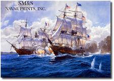 """High Sea's Diplomacy""  by Tom Freeman - U.S.S Frigate Constellation-Marine Art"