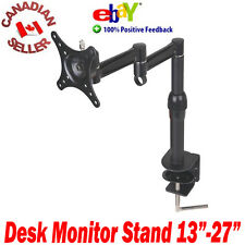 "Single LCD LED Monitor Desk Stand with clamp 13 - 27"" Monitors 18 19 21 22 23 24"