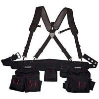 Black Tool-Belt Construction Suspender Strap Holster Pocket Pouch Bag Framer-Rig