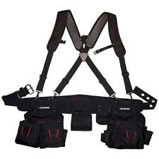 Black Tool-Belt Construction Suspender Strap Holster Pocket Pouch Bag Framer-Rig