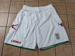 Iran National Team 10/11 Home Blank Shorts Men's Legea NWT White Soccer