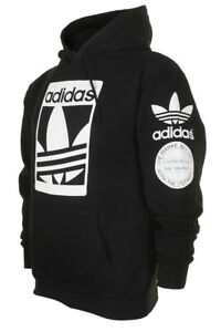 Adidas Men's Original Trefoil Street Graphic Front Pocket Active Pullover Hoodie