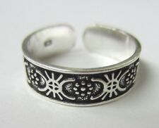 Adjustable Toe Ring Oxidized Jewelry 2pcs Solid 925 Sterling Silver