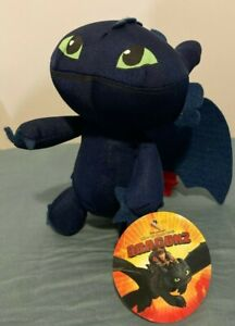 How to Train Your Dragon Toothless Night Fury plush soft toy New with Tags