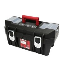 Craftsman 19 Inch Tool Box with Tray Storage Organizer Plastic Toolbox Garage