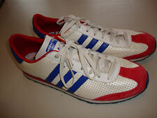 Adidas Running Shoes ADI White Blue Red Skateboarding Soccer Shoe sz 14