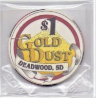 Gold Dust Gaming Casino Deadwood South Dakota 1 Dollar Gaming Chip As Pictured