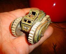 Ancien Petit Tank Blindé Moteur clé et Friction à Etincelle GAMA 7.7Cm incomplet