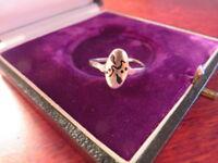 Hübscher 925 Silber Ring Schlicht Ethno Navajo Mystisch Inka Azteken Retro Top