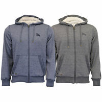 Mens Sweatshirt Tokyo Laundry Jacket Sherpa Fleece Hooded Sweat Coat Winter New