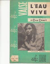 LIVRET PARTITION  GUY BEART *L'EAU VIVE* (PASCALE AUDRET)