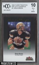 2001 Fleer Tradition Art of Champion Drew Brees RC BCCG 10 Saints Centered