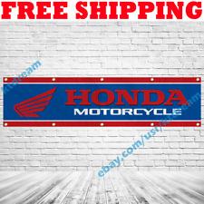 Honda Motorcycle Banner Flag 2x8 ft Shop Garage Man Cave Wall Sign Decor 2019