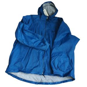Nike Hooded Jacket Coat waterproof Men's Size 2XL Blue Full Zip lined Vintage