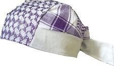 BABY PALI BANDANA Violett-weiß Kopftuch