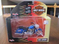Maisto Harley Davidson 1:18 Blue 1997 FLHR Road King Motorcycle New