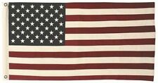 More details for bright american flag stars and stripes cotton flag | double sided
