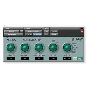 Crane Song Peacock AAX plugin Ilok asset, Pro Tools only compatible