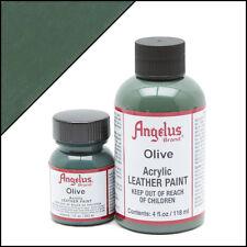 Angelus Olive acrylic leather paint 1 oz. bottle